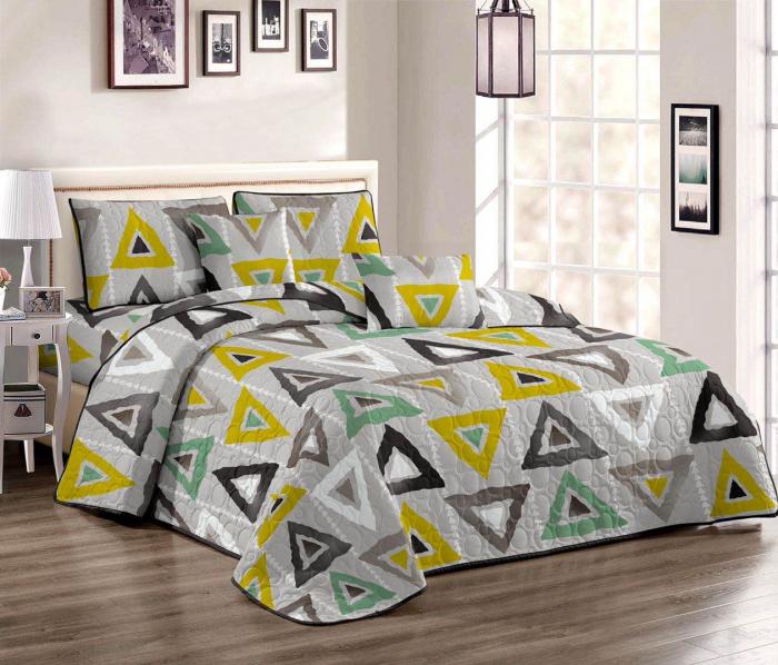 Cuvertura pat dublu din BUMBAC 3 piese Vanida 0