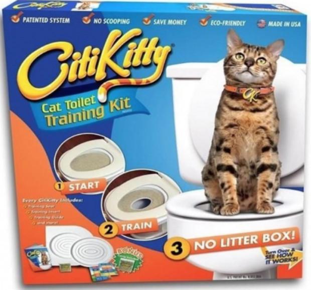 Citi Kitty - kit pentru educarea pisicilor la toaleta 0