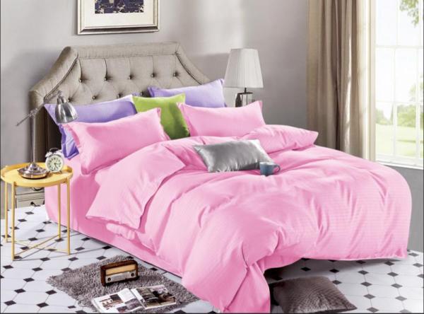 Lenjerie de pat Damasc 4 piese Pink 0