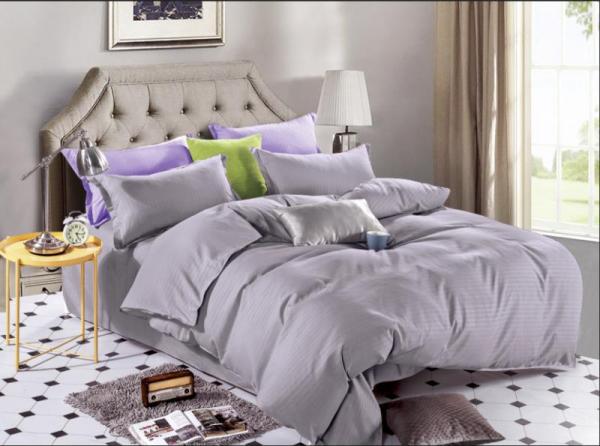 Lenjerie de pat Damasc 4 piese Gray 0