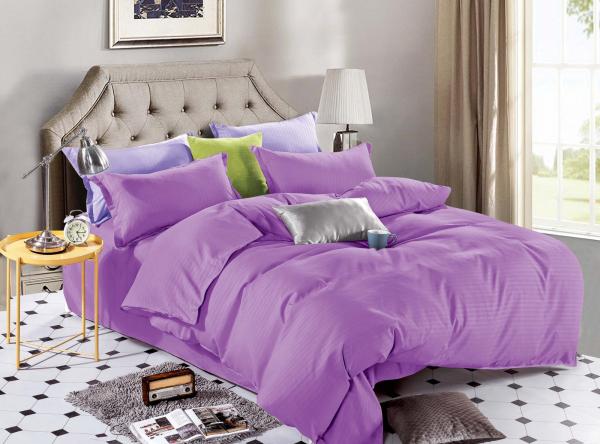 Lenjerie de pat Damasc 4 piese Violet 0