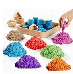 Nisip kinetic pentru copii 1 kg + 6 forme de modelat 0