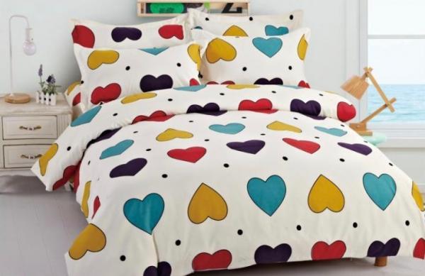 Lenjerie de pat Finet 6 piese Colored Hearts 0