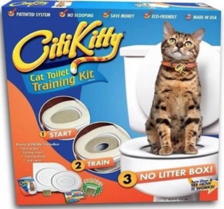 Citi Kitty - kit pentru educarea pisicilor la toaleta0