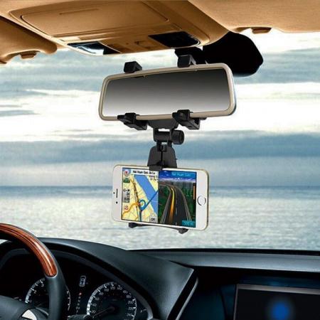 Suport telefon cu prindere pe oglinda retrovizoare1