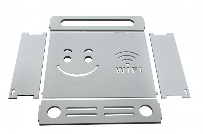 Suport Router Wireless Smiley Face 60x40x10 cm, alb, pentru mascare fire si echipament WI-FI, posibilitate montare pe perete [1]