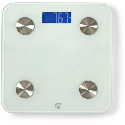NEDIS WIFIHS10WT inteligent Wi-Fi-s cântare personale BMI Grăsime corporală Apă Oase Muşchi Proteină Securizat sticlă 8 utilizator [0]
