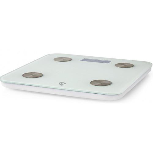NEDIS WIFIHS10WT inteligent Wi-Fi-s cântare personale BMI Grăsime corporală Apă Oase Muşchi Proteină Securizat sticlă 8 utilizator [4]
