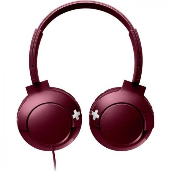 Casti Philips SHL3075RD/00, BASS+ , On-Ear, Rosu [1]