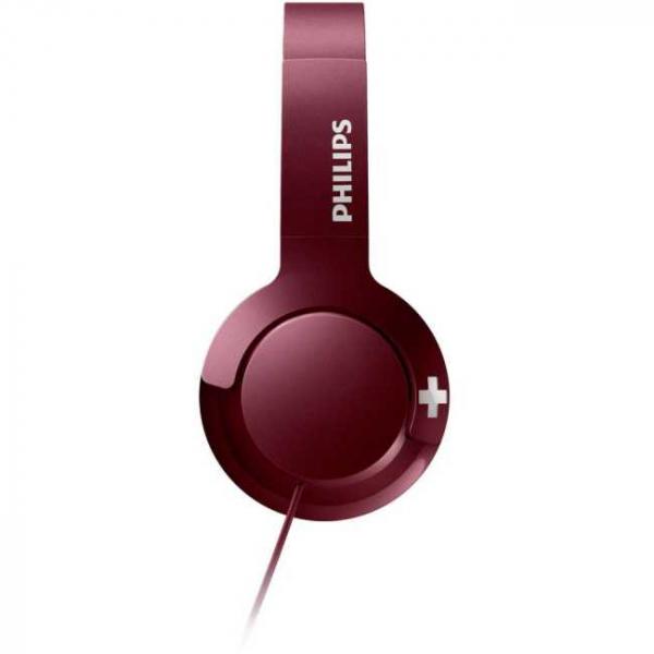Casti Philips SHL3075RD/00, BASS+ , On-Ear, Rosu [3]