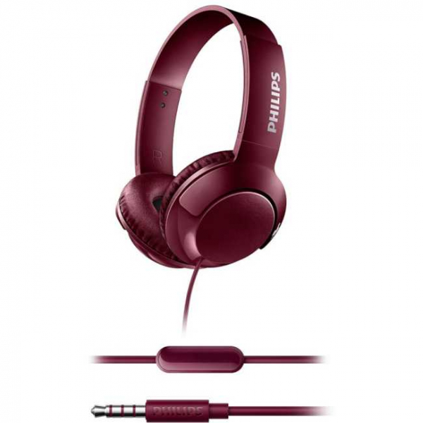Casti Philips SHL3075RD/00, BASS+ , On-Ear, Rosu [4]