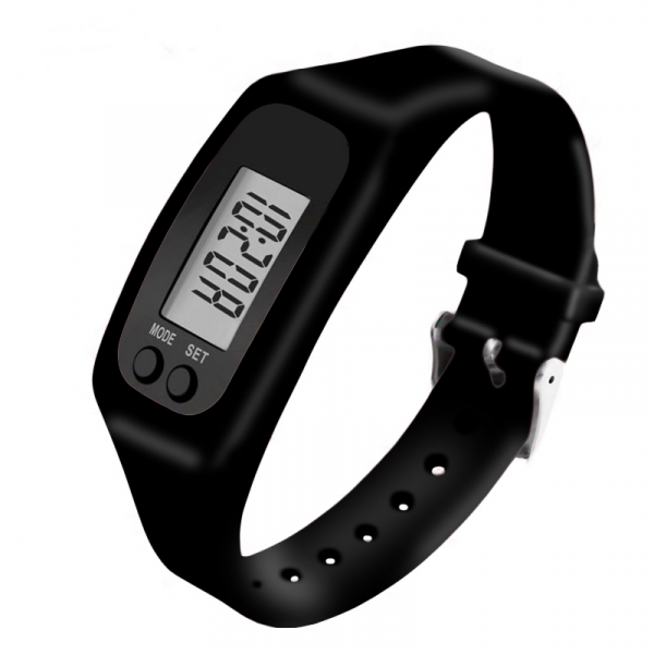 Bratara fitness ultra usoara Optimus AT  X01 pedometru, distanta, calorii, ceas, negru [1]