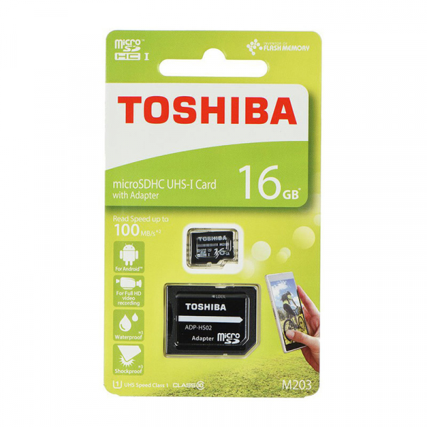 Card de memorie Toshiba Micro SDHC 16 GB UHS-I + Adaptor SD - 100mb/s [0]
