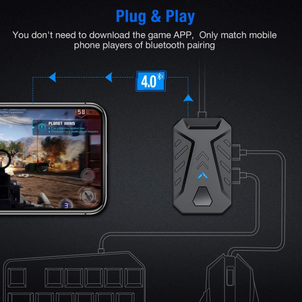 Mix Pro 4 in 1 combo game pack - compatibil iOs, Android, pentru PUBG, [8]