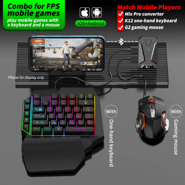 Mix Pro 4 in 1 combo game pack - compatibil iOs, Android, pentru PUBG, [1]