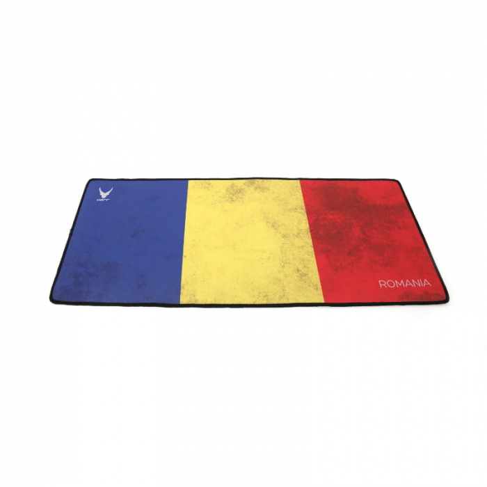 Mousepad Gaming 300 mm x 700 mm, grosime 3 mm, Platinet Varr, steag Romania [0]