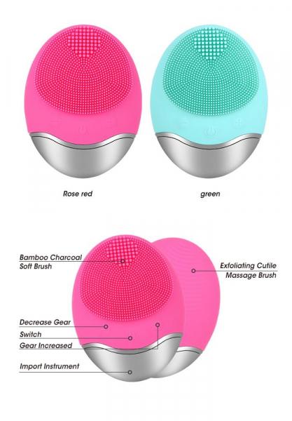 Aparat multifunctional masaj, curatare faciala Optimus AT Skin™  JMY003 cu ioni negativi, din silicon, rezistent la apa, pink [2]