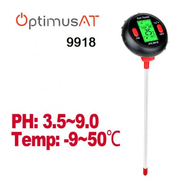 Aparat multifunctional sol, testare PH, valoare umiditate, temperatura pamant si mediu, luminozitate Optimus AT RZ9918 [0]