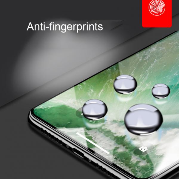 Folie protectie ecran 5D de sticla duritate 9H, antiamprenta pentru Iphone X [1]