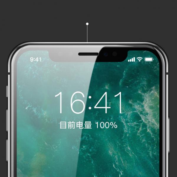 Folie protectie ecran 5D de sticla duritate 9H, antiamprenta pentru Iphone X [2]