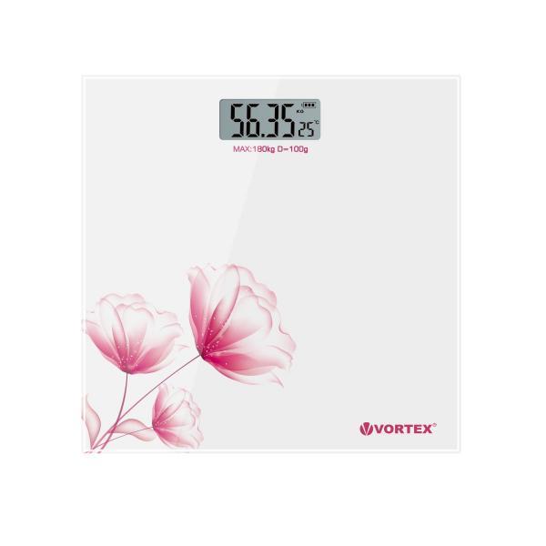 Cantar de persoane VORTEX VO4803/2 electronic, 180kg, alb [0]