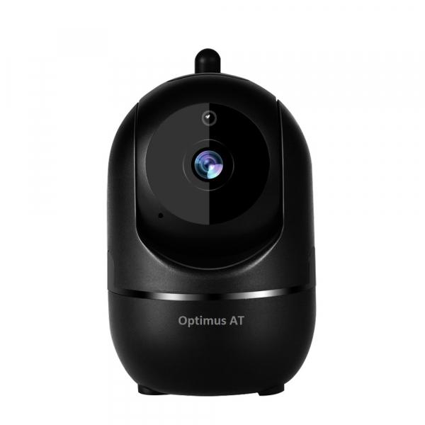 Camera supraveghere interior IP WIFI Optimus AT 288-2 fullHD 1920*1080P 2 mp comunicare bidirectionala, functie de autourmarire subiect, night vision, aplicatie telefon, negru [0]