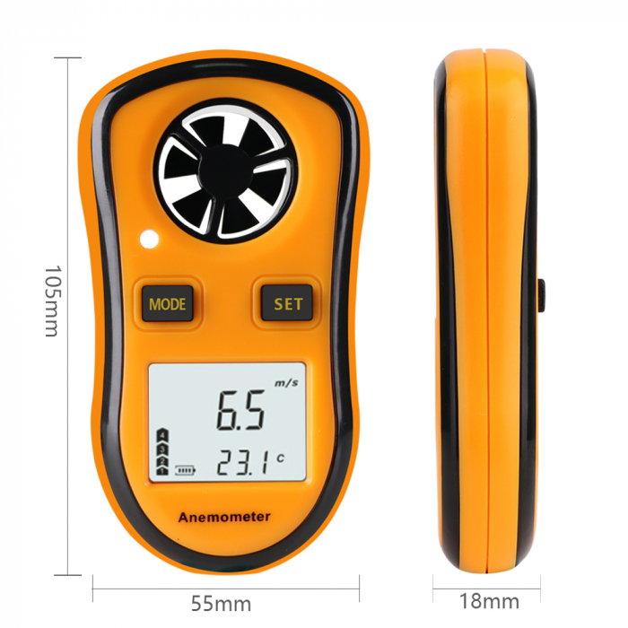 Anemometru multifunctional Optimus AT RZ8809 scara Beaufort temperatura viteza vant [1]