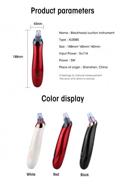 Aparat curatare ten Optimus AT Skin™ XL00BS inlaturare puncte negre, pompa vacuum, black [5]