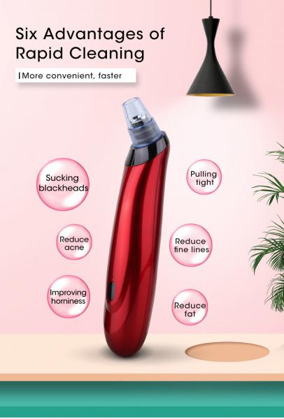Aparat curatare ten Optimus AT Skin™ XL00BS inlaturare puncte negre, pompa vacuum, red [7]
