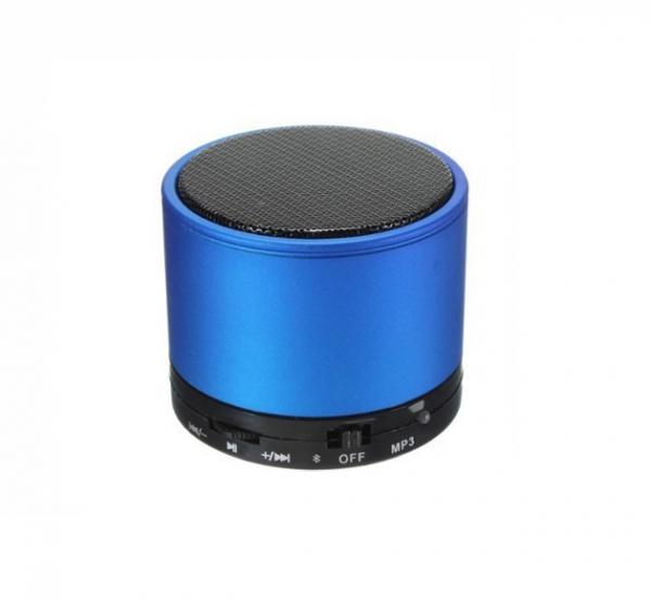 Boxa portabila metalica Optimus AT X44, rezistenta la apa, 3w, bluetooth, radio FM, handsfree, card micro-sd, blue [0]