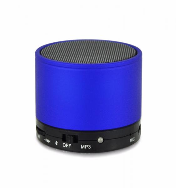 Boxa portabila metalica Optimus AT X44, rezistenta la apa, 3w, bluetooth, radio FM, handsfree, card micro-sd, blue [1]