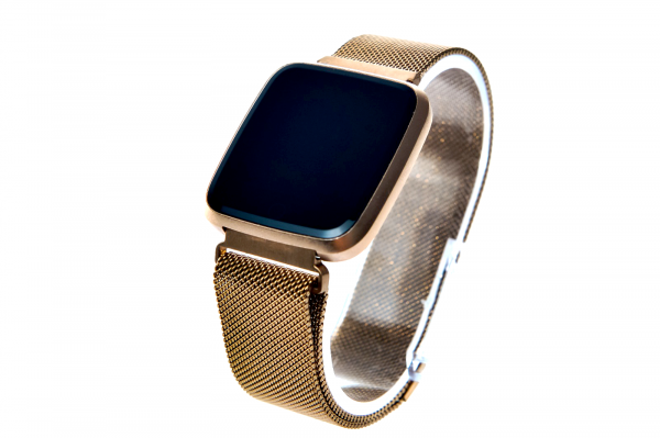 Bratara fitness curea metalica Optimus AT 7 ecran color, smartwatch,  pedometru, puls, notificari, rose [0]