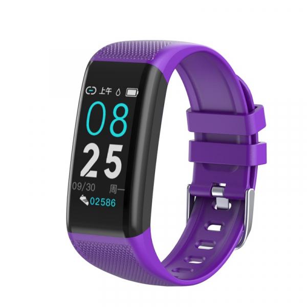 Bratara fitness Optimus AT 22 plus ecran IPS color cu touch 1,14 inch, IP67, puls, tensiune, notificari, calorii, distanta, aplicatie profi, incarcare facila, purple [0]