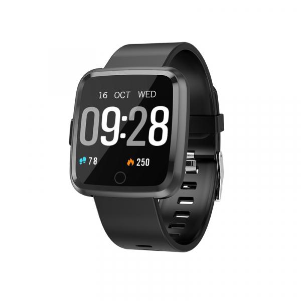 Bratara fitness Optimus AT 7 ecran color 1,3 inch, tensiune, puls, notificari, IP 67, pedometru, calorii, distanta, moduri sport, black [0]