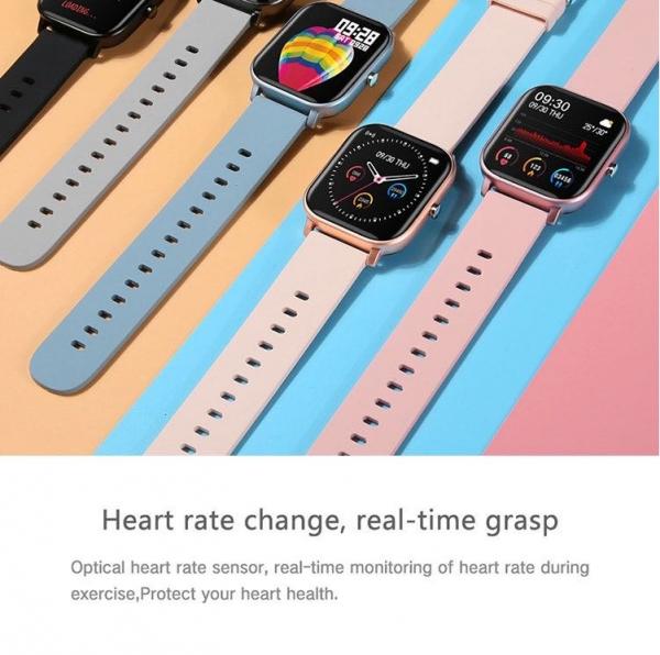 Ceas inteligent (smartwatch) Optimus AT P8 ecran cu touch 1.4 inch color HD, smartwatch, moduri sport, pedometru, puls, notificari, portocaliu [2]