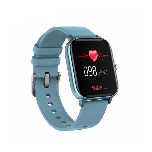 Ceas inteligent (smartwatch) Optimus AT P8 ecran cu touch 1.4 inch color HD, moduri sport, pedometru, puls, notificari, blue [1]