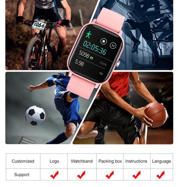 Ceas inteligent (smartwatch) Optimus AT P8 ecran cu touch 1.4 inch color HD, smartwatch, moduri sport, pedometru, puls, notificari, pink [4]