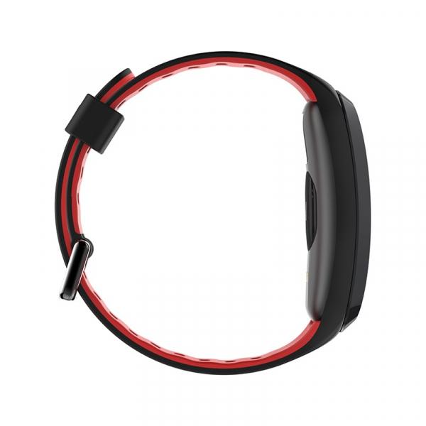 Bratara fitness sport ultra usoara Optimus AT 44 IP68, puls, tensiune, pedometru, notificari, calorii, distanta, moduri sport, black/red [2]