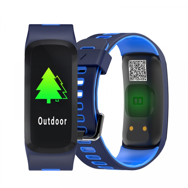 Bratara fitness sport ultra usoara Optimus AT 44 IP68, puls, tensiune, pedometru, notificari, calorii, distanta, moduri sport, blue [2]