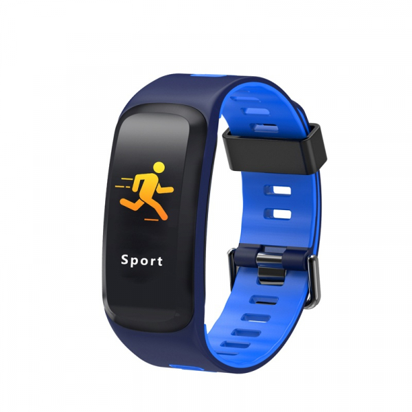 Bratara fitness sport ultra usoara Optimus AT 44 IP68, puls, tensiune, pedometru, notificari, calorii, distanta, moduri sport, blue [0]