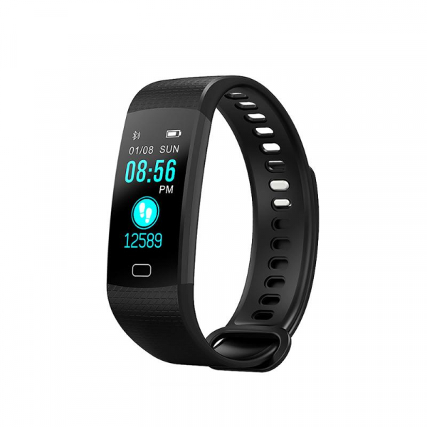Bratara fitness ultra usoara Optimus AT 5, IP67, puls, tensiune, pedometru, notificari, calorii, distanta, black [0]