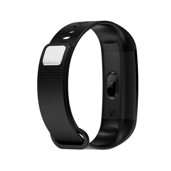 Bratara fitness ultra usoara Optimus AT 5, IP67, puls, tensiune, pedometru, notificari, calorii, distanta, black [2]