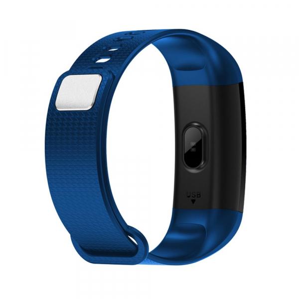 Bratara fitness ultra usoara Optimus AT 5, IP67, puls, tensiune, pedometru, notificari, calorii, distanta, dark blue [1]