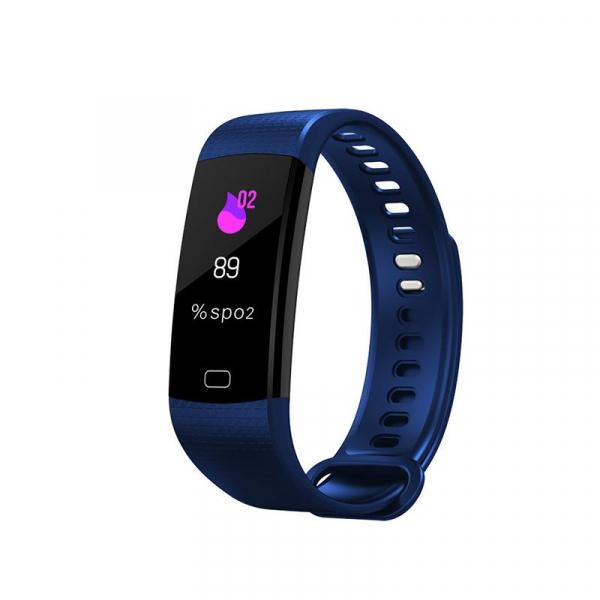 Bratara fitness ultra usoara Optimus AT 5, IP67, puls, tensiune, pedometru, notificari, calorii, distanta, dark blue [0]