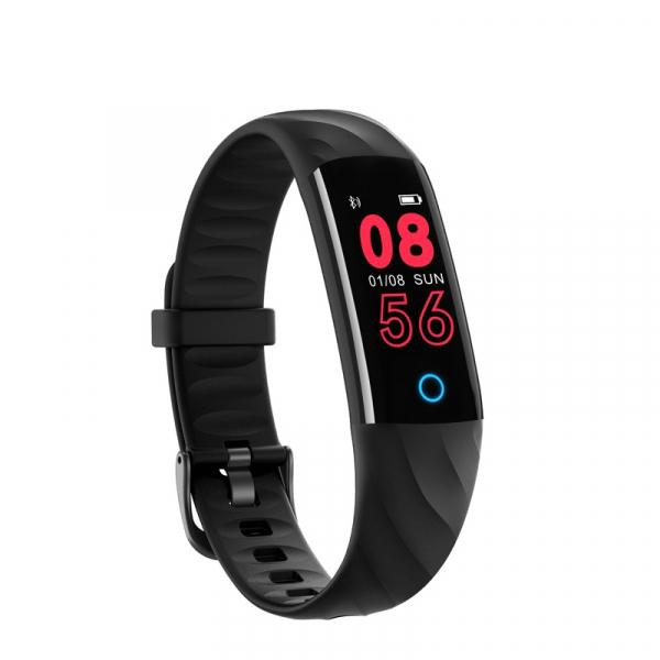 Bratara fitness ultra usoara Optimus AT 55, IP68, puls, tensiune, pedometru, notificari, calorii, distanta, black [2]