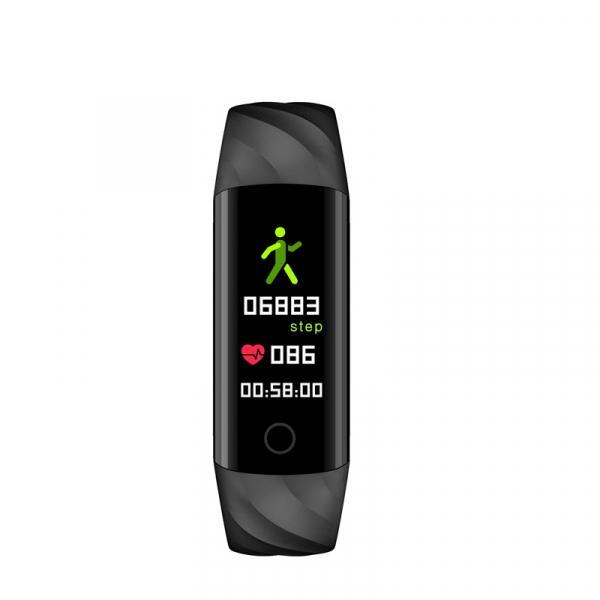 Bratara fitness ultra usoara Optimus AT 55, IP68, puls, tensiune, pedometru, notificari, calorii, distanta, black [3]