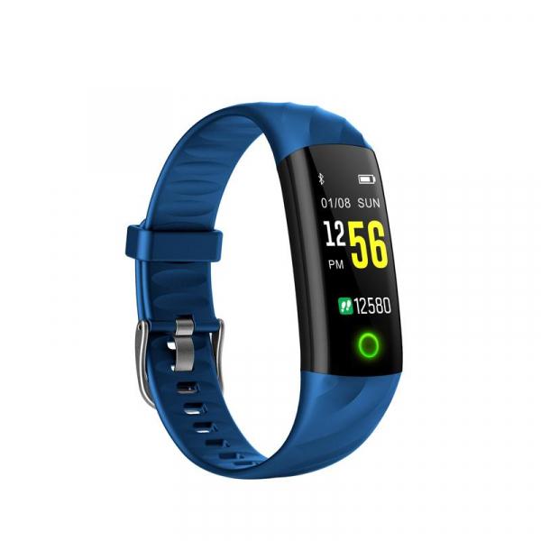Bratara fitness ultra usoara Optimus AT 55, IP68, puls, tensiune, pedometru, notificari, calorii, distanta, dark blue [0]