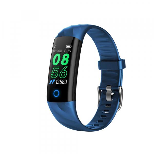 Bratara fitness ultra usoara Optimus AT 55, IP68, puls, tensiune, pedometru, notificari, calorii, distanta, dark blue [1]