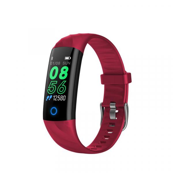 Bratara fitness ultra usoara Optimus AT 55, IP68, puls, tensiune, pedometru, notificari, calorii, distanta, red [0]