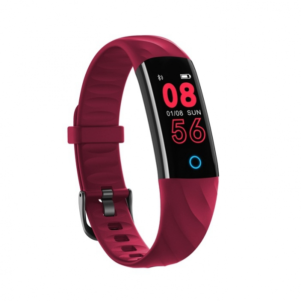 Bratara fitness ultra usoara Optimus AT 55, IP68, puls, tensiune, pedometru, notificari, calorii, distanta, red [2]